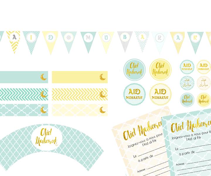 Freebies : Kit de décoration Aid Al Fitr 2015