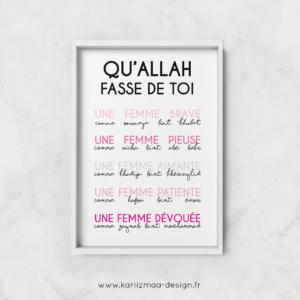 Poster qu'Allah fasse de toi Femme