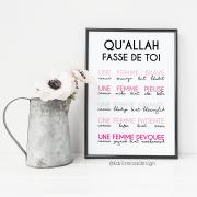 Poster qu'Allah fasse de toi