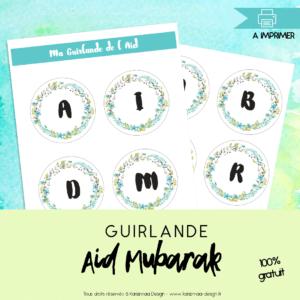 Guirlande Aid Mubarak 2