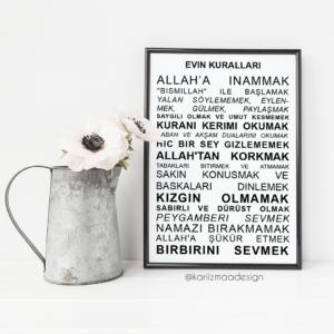 les regles de la maison turc