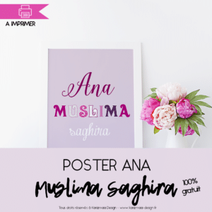 Poster Ana Muslima Saghira