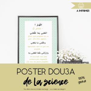 Poster Invocation de la Recherche de Science