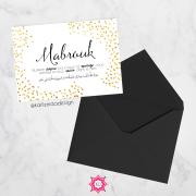 Carte de mariage islamique doré