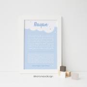 Poster Ayat al Kursy garçons bleu