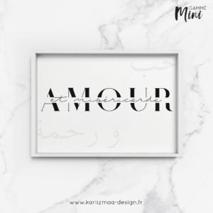 Poster Amour et Miséricorde Gamme Mini