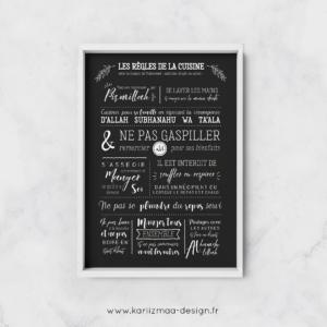 Poster Les Règles de la cuisine islamiques