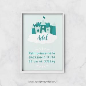 Poster de naissance Chateau Mint