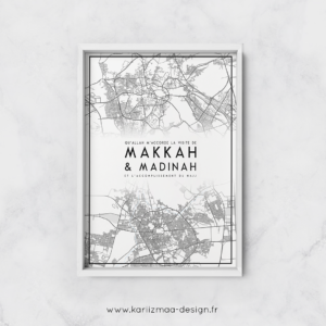 Poster Map Makkah Madinah
