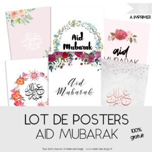 Lot de 22 posters Aid Mubarak