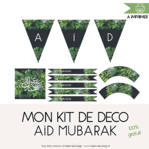 Mon kit de Déco Aid Mubarak Tropical