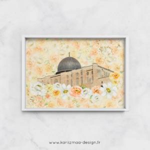 Poster Islam Al Aqsa Fleurie