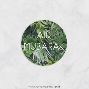 12 Etiquettes Aid Mubarak Tropical FR